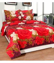 Buy Double Bed Sheets Online India Homefab India Double Poly Cotton Multi 3d Print Bed Sheet Buy