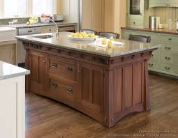 furniture style kitchen island mission style kitchens designs and photos
