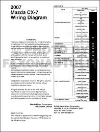 2007 mazda cx 7 wiring diagram manual original