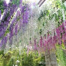 upscale artificial silk flower vine home decor simulation wisteria