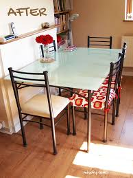 Best  Glass Table Redo Ideas On Pinterest Vintage Sewing - Dining room table glass