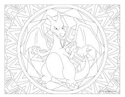 pokemon coloring page charizard kids korner crafts