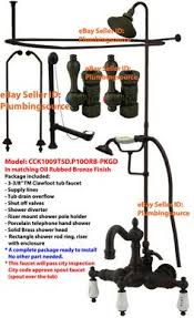 Oil Rubbed Bronze Clawfoot Tub Faucet Oil Rubbed Bronze Clawfoot Tub Faucet Kit W Shower Riser
