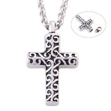 ashes necklace holder cross memory jewelry 316l stainless steel men cremation ashes