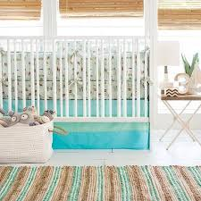 Surfer Crib Bedding Retro Surf California Dreaming Ombre Aqua Mint Skirt Retro Surf