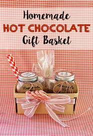 hot chocolate gift running from the diy hot chocolate gift basket