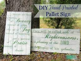 diy hand painted pallet signs the turquoise home