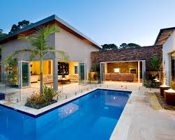 Swimming Pool House Plans Flawless Beautiful Apartment Exterior Swimming Pool Noosa Villa
