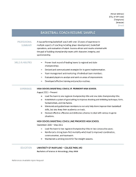 Results Oriented Resume Examples Brilliant Ideas Of Basketball Coach Resume Sample For Free