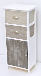 meuble de charme meuble de rangement de salle de bain 2 tiroirs 1 porte taupe