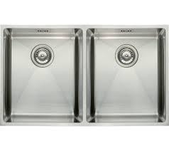 Modern Double Bowl Undermount Kitchen Sink Mm Stainless Steel - Square kitchen sink