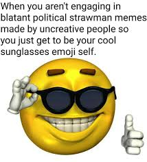 Pixel Sunglasses Meme - when you aren t engaging in blatant political strawman memes made by