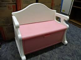 vintage discontinued little tikes pink and white victorian storage