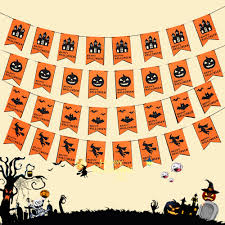 hanging bats halloween decor popular pumpkin banner buy cheap pumpkin banner lots from china