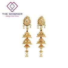 jhumki earring the shigner ethnic indian golden 4 floor birdcage jhumka jhumki
