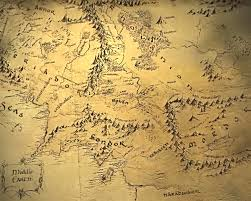 map hobbit the hobbit middle earth map major tourist attractions