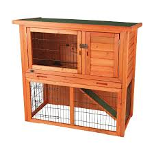 Rabbit Hutch Plastic Shop Trixie Pet Products Natura Natural Wood Rabbit Hutch At Lowes Com