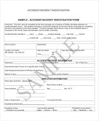 Incident Investigation Report Template by 31 Incident Report Exles