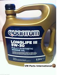vw gti r32 tdi quantum long life 5w 30 engine oil oem new vw parts