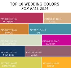 fabulous 10 wedding color scheme ideas fall 2014 trends