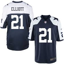 s dallas cowboys ezekiel elliott nike navy alternate