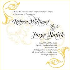 sample of wedding invitation card english card examples of wedding