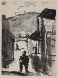 sketch of the road to the mines ystradgynlais u0027 josef herman c