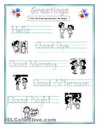 greetings for kids worksheet free esl printable worksheets made