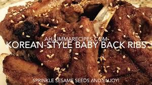 instant pot korean style baby back ribs youtube