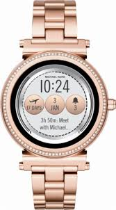 rose tone stainless steel bracelet images Michael kors access sofie smartwatch 42mm stainless steel multi jpg;m