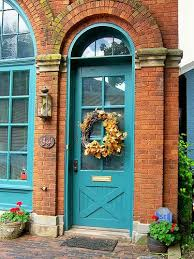 image result for colorful front door red brick house essex front