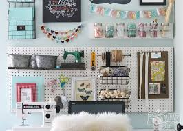 cool pegboard ideas a craft room office pegboard gallery wall with video tour the