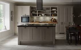 kitchen design grey color with sofa space ideas wood country