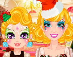 play free barbie christmas face painting