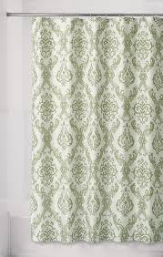 bathroom green damask fabric shower curtains for bathroom