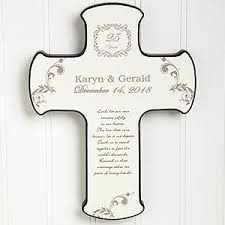 personalized crosses personalized wall cross our anniversary blessing