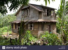 old wooden colonial house sierra leone west africa stock photo