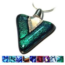 ashes into glass ashes into jewellery triangle pendant