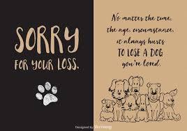 loss of dog free loss of dog vector card free vector stock