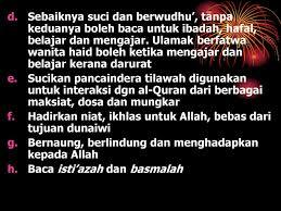 Wanita Datang Bulan Boleh Baca Quran Bagaimana Berinteraksi Dengan Al Quran Ppt Download