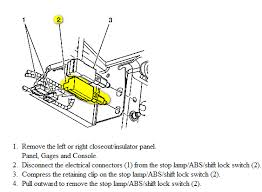 2003 cadillac cts third brake light cadillac cts my 03 cts is stuck in park what may b the pr
