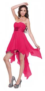fuschia bridesmaid dress high low chiffon fuchsia bridesmaid dress strapless layered skirt