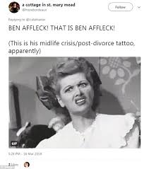 Tattoo Meme - jennifer garner meme revived as fans savage ben affleck s tattoo
