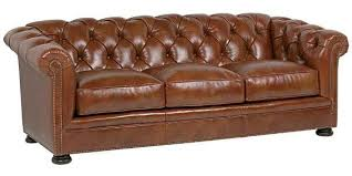 Leather Chesterfield Style Sofa Thurston Button Tufted Leather Chesterfield Style Cigar Sofa