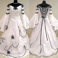 renaissance wedding dresses discount renaissance vintage black and white wedding