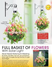 Solar Lights Hanging by Hanging Basket With Solar Light Hanging Basket With Solar Light