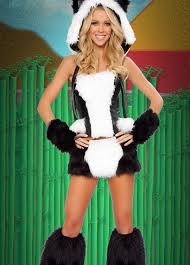 womens deluxe panda bear costume
