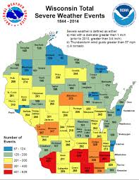 Counties In Wisconsin Map by Wisconsin Tornado And Severe Weather Statistics