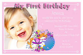 How To Design Invitation Card 1st Year Birthday Invitation Card Vertabox Com