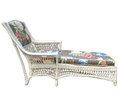 White Chaise Lounge Antique White Wicker Chaise Lounge Chairish